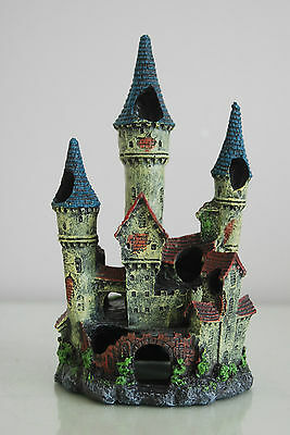 Stunning Detailed Aquarium Haunted Castle Decoration Small 10 x 10 x 20 cms 4