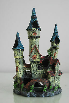 Stunning Detailed Aquarium Haunted Castle Decoration Small 10 x 10 x 20 cms 5