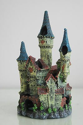 Stunning Detailed Aquarium Haunted Castle Decoration Small 10 x 10 x 20 cms 6