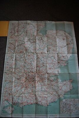 Vintage 1930 No 1 South East Counties Touring Map 3