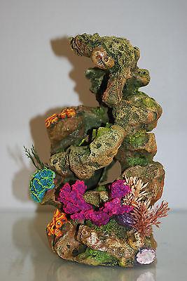 Aquarium Coral On Lava Rock Suitable For All Aquariums 13.5 x 14.5 x 26 cms 3