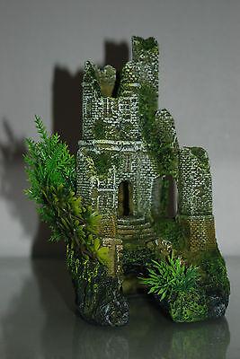 Stunning Detailed Aquarium Castle Ruin Decoration 12 x 12 x 22 cms 3