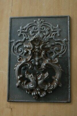 RARE LARGE Antique Victorian Cast Iron Door Knocker Original Patina Hardware 3
