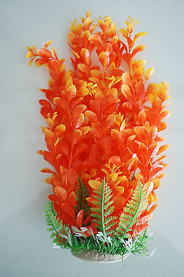 Aquarium Plants Approx 33cms High Orange & Yellow Suitable for all Aquariums 4