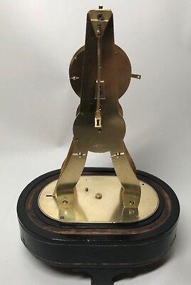 Pretty Miniature Scissor Frame Skeleton Clock With Alarm & Glass Dome Circa 1860 9