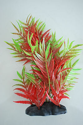 Aquarium Plants x 2 Approx 25cms High Red & Green Suitable for all Aquariums 2