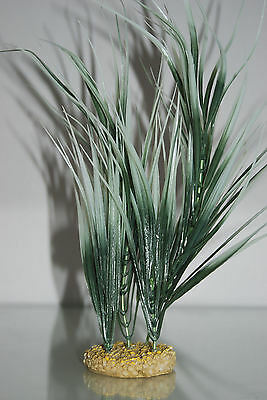 Aquarium Plant Echndrus Tenlus Green & White With Weighted Base 28 cms High 2