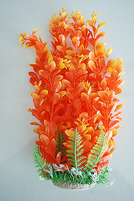 Aquarium Plants Approx 33cms High Orange & Yellow Suitable for all Aquariums 2