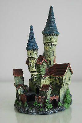 Stunning Detailed Aquarium Haunted Castle Decoration Small 10 x 10 x 20 cms 3