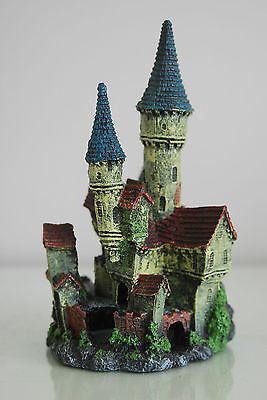 Stunning Detailed Aquarium Haunted Castle Decoration Small 10 x 10 x 20 cms 3