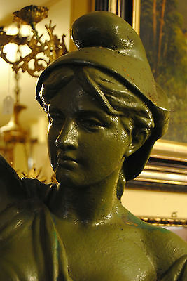 Original Louis Gasne Paris Marianne France Gußeisen 19.Jh. Skulptur Höhe 188 cm 5