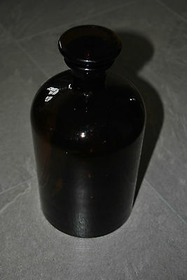 Alte Apothekerflasche Apotheker Flasche Stopfen Braunglas Old Pharmacy 2 Liter 3