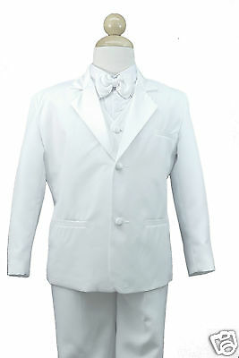 94741f351 ... Baby Toddler Boy Christening Communion Wedding Formal Party Suit White  Suit S-20 9