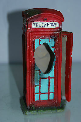 Aquarium Large Old London Telephone Box 9x7.5x17 cms Suitable For All Aquariums 2