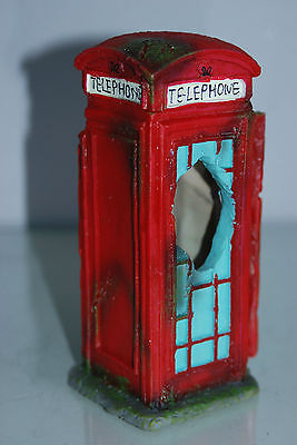 Aquarium Large Old London Telephone Box 9x7.5x17 cms Suitable For All Aquariums 3