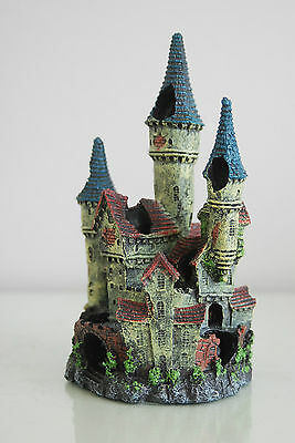 Stunning Detailed Aquarium Haunted Castle Decoration Small 10 x 10 x 20 cms 2