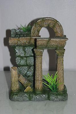 Aquarium Large Old Roman Column Arch Ruin Greek Decoration 18 x 11 x 24 cms 6