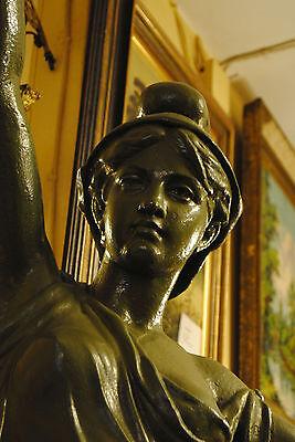 Original Louis Gasne Paris Marianne France Gußeisen 19.Jh. Skulptur Höhe 188 cm 7