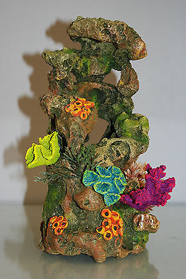 Aquarium Coral On Lava Rock Suitable For All Aquariums 13.5 x 14.5 x 26 cms 2