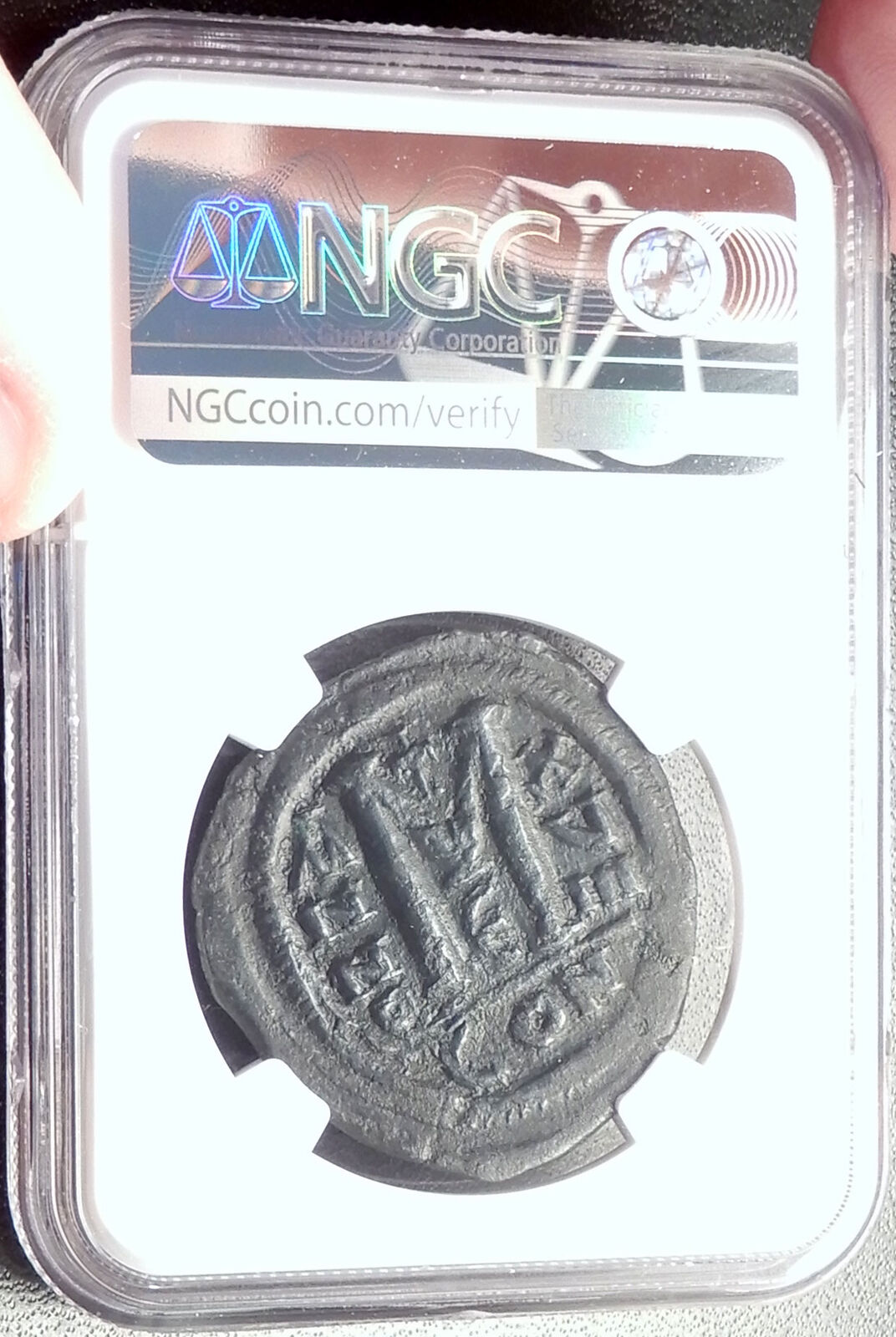 JUSTINIAN I the GREAT 527AD Follis Authentic Ancient Byzantine Coin NGC i68775 4