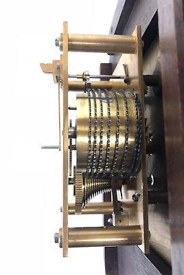 National Provincial Bank CHAIN Fusee Mahogany Wall Clock SIR JOHN BENNETT LONDON 12