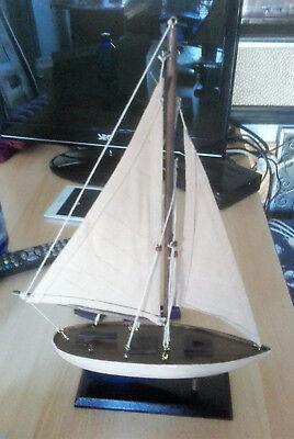 Modellschiff Holz Segler mit Takelage Boot Maritime Tisch Kamin Dekoration 6