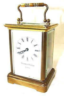 Wonderful Swiss Brass Carriage Clock : MATTHEW NORMAN LONDON SWISS MADE 3