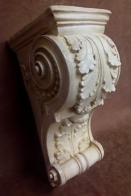 Pair Shelf Acanthus leaf Wall Corbel Sconce Bracket Architectural Accent 6