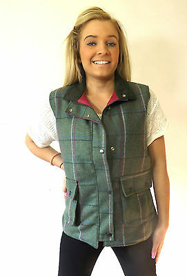 2 sur 6 Campbell COOPER femmes tweed chasse équitation chasse gilet gilet  rose NEUF ae622b13a5fc
