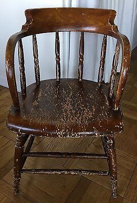 Antique Windsor Chair - Low Barrel Back