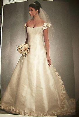 Ms Vogue 1095 Pattern Sassoon Full Wedding Dress Gown UNCUT Size 12-14-16 3
