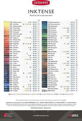 Derwent Inktense Professional Permanent Watercolour Pencils in 72 Vivid Colours 3