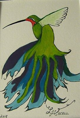 "C360      Original Acrylic  Painting By Ljh  ""Birds Of A Feather"" 9"