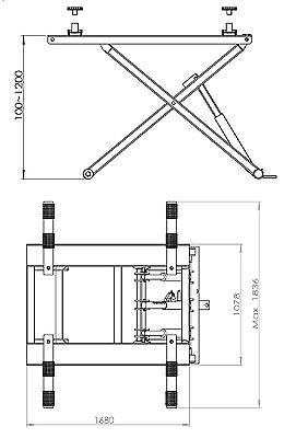 PORTABLE SCISSOR LIFT / Car Lift / Car Hoist /Workshop Hoist RED COLOR
