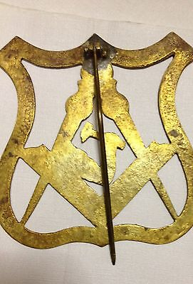 Masonic Emblem In Solid Cast Brass For Wall Door Or Gate 4