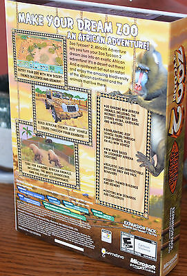 ZOO TYCOON 2: African Adventure PC Expansion Pack by Microsoft NEW IN BOX