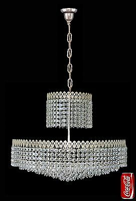 Elegant Large 8 Tier Crystal Beads Wedding Cake Bakalowits Era Chrome Chandelier 11