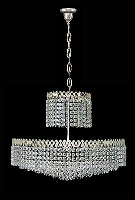 Elegant Large 8 Tier Crystal Beads Wedding Cake Bakalowits Era Chrome Chandelier 10