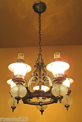 Vintage Lighting striking 1930s Spanish Tudor chandelier, and two sconces 2