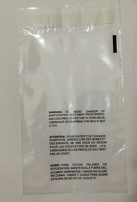 Clear Poly  Suffocation Warning Self Seal FBA Bags Free Shipping 3