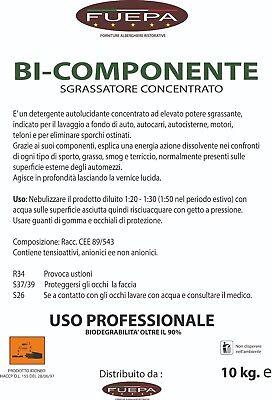 Sgrassatore Bicomponente Detergente Industriale 10 Lt Professionale Bifase 3