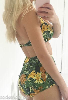 Womens Ex Tropical UK SELLER Urban Outfitters High Waisted Vintage Bikini