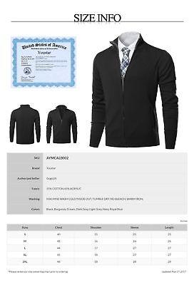 FashionOutfit Men's Classic Full Zip Up Mock Neck Basic Sweater Cardigan Top 2