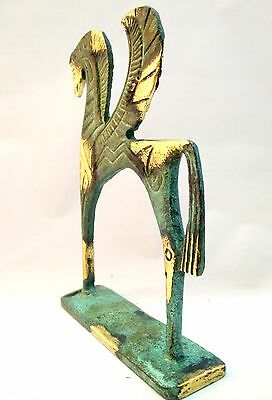 Ancient Greek Bronze Museum Statue Replica of Pegasus Flying Horse Collectable 8