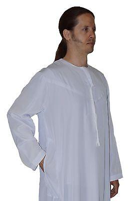 Men/'s Saudi Style Dishdasha Thobe Daffah Arabian Caftan Easter Wear Black
