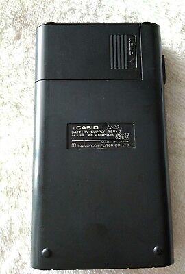 CASIO FX-20 calculadora científica VINTAGE year 1975 4