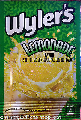 6x  WYLERS pkts SOFT DRINK MIX  kool-aid fruit drink cordial grape cherry punch 2