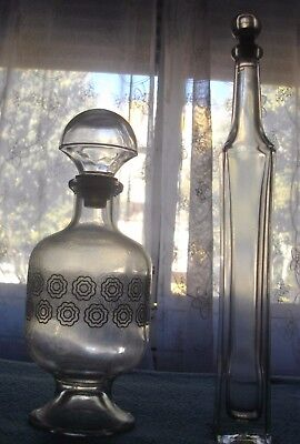 Dos Bellisimas Licoreras Licoreras De Cristal ( Pequeñas)