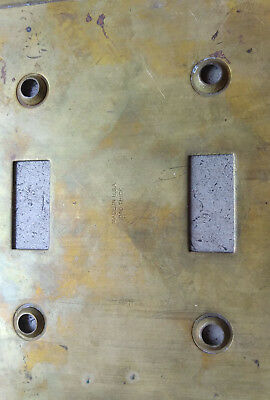 6 Nickel Art Deco & 5 Brass Copper WallPlate Covers Push Button & Toggle 5