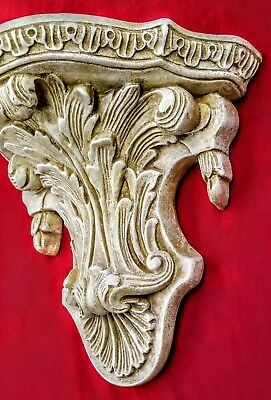 Antique Finish Shelf Acanthus leaf Tassel Wall Corbel Sconce Bracket Vintage 4